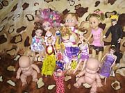 Игрушки для девочки куклы пупсы гитара маски цена за всё