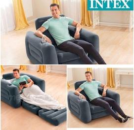 117×105×66Надувное кресло-трансформер intex 66551