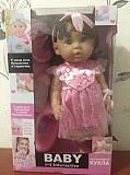 Кукла Baby Toby издает звук, куклу можно поить, умеет писать