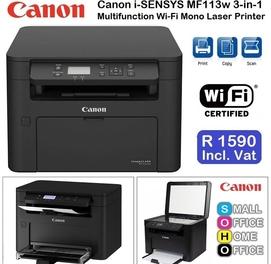 3 в 1 МФУ Canon i-SENSYS MF113w Принтер сканер ксерокс