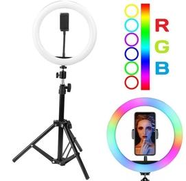38см + пульт + Штатив Кольцевая LED лампа RGB MJ38 Доставка есть