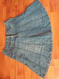 Фирменная привозная джинсовая юбка 42 размера.