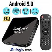X3 Pro 4/64 Gb Smart TV Box + в подарок 2000 ТВ каналов и база видео