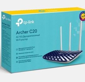АКЦИЯ! по ЦЕНЕ БАЗАРА! Новый Wi-Fi TP-LINK Archer C20 для оптики