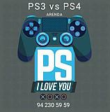 Ps3 va Ps4 arendaga beriladi.