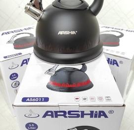 Чайник фирма ARSHIA 3.5л с индикатором и со свистком
