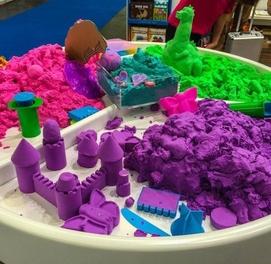 Динамический песок 5 кг + бассейн + фомочки Кинетический песок