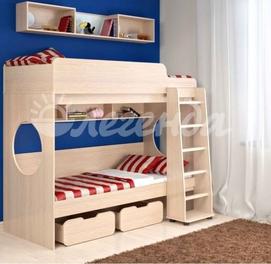 Двухъярусная кровать Л 7.1 + полка