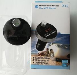 FM-трансмиттер модулятор x12 Bluetooth, AUX, USB флешка, Micro fleshka