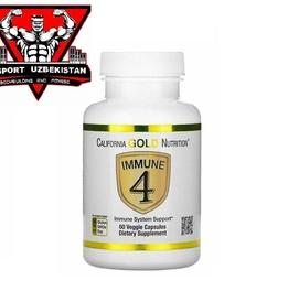 Immune4, средство для укрепления иммунитета, Цинк, д3, селен, Вит С