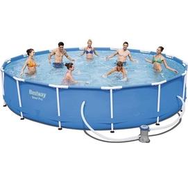 Каркасный бассейн Bestway 427х84 см + фильтр-насос 2006 л/ч (56595 BW)