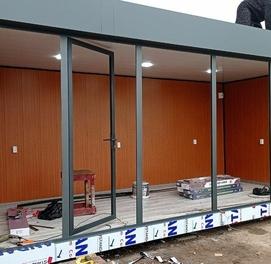 Konteyner domik kantener Metallo konstruktsiya Sendvich panel