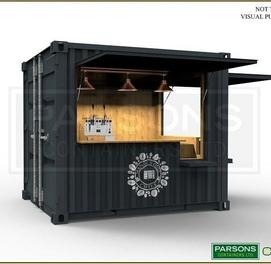 Контейнер домик Металло конструкция сендвич панели Модульные домик