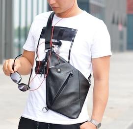 Мужская Кожанная сумка кобура Fino