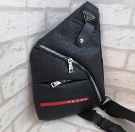 Мужская Кожанная сумка слинг через плечо Кобура