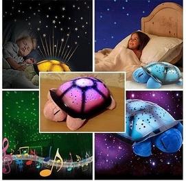Музыкальный ночник проектор звездного неба морская черепаха