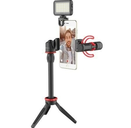 Набор для Влогеров BOYA BY-VG350 с петличными микрофоном BY-MM1+ и LED