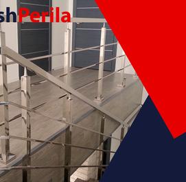 перила для лестницы из нержавейке на заказ в ташкенте