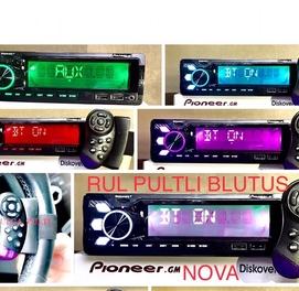 Pioneer magnitafon + Rul pultli blutusli new bartr bor radio usb mafon