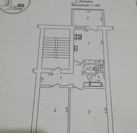 продается 2х комнатная высокопотолочная квартира в Яккасарайском районе