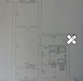 Продается квартира Шайхантахурский район ор Урда высокопотолочка без р
