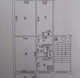 Учтепа. 3/3/5. Балкон 2х6. 60кв.м.