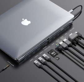 USB-концентратор Baseus Enjoyment Series Type-C Notebook HUB (CATSX-G0