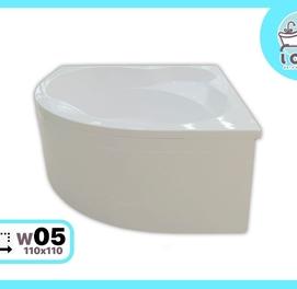 """Ванна акриловая 110x110 (W05Угловая) от производителя """"LOLO"""""""
