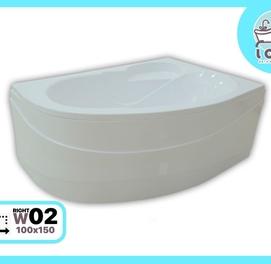 "Ванна акриловая 150x100 (W02Парус) от производителя ""LOLO"""