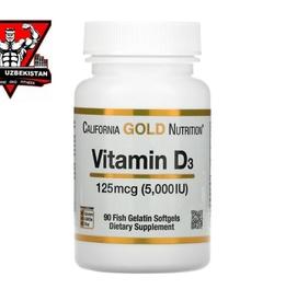 Витамин D3, 90 капсул, Vitamin California Gold Nutrition, США