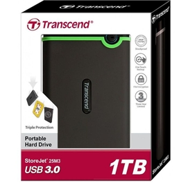 Внешний Жесткий Диск HDD TRANSCEND 1TB USB 3.0