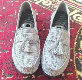 Вязание Мужской обувы на заказ!