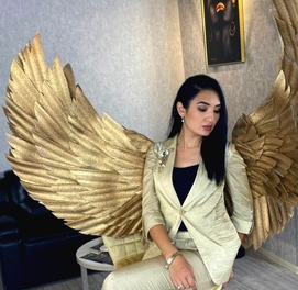 Золотые крылья ангела на заказ и аренда